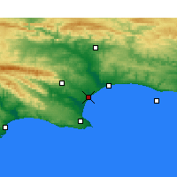 Nearby Forecast Locations - Port of Ngqura - Carte