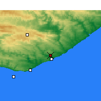 Nearby Forecast Locations - Port Alfred - Carte