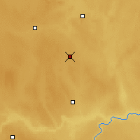 Nearby Forecast Locations - Oyen - Carte