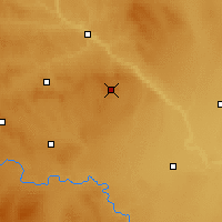 Nearby Forecast Locations - Hussar - Carte