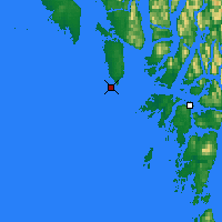 Nearby Forecast Locations - McInnes Isl. - Carte