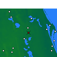 Nearby Forecast Locations - Orlando - Carte