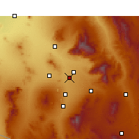 Nearby Forecast Locations - Tucson - Carte