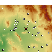 Nearby Forecast Locations - Phoenix - Carte