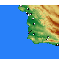 Nearby Forecast Locations - Lompoc AFB - Carte