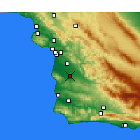 Nearby Forecast Locations - Santa Maria - Carte