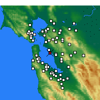 Nearby Forecast Locations - Oakland - Carte
