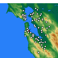 Nearby Forecast Locations - San Francisco - Carte