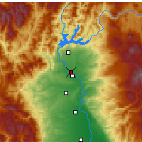 Nearby Forecast Locations - Redding - Carte