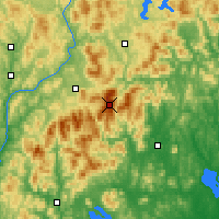 Nearby Forecast Locations - Mont Washington - Carte