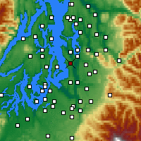 Nearby Forecast Locations - Seattle - Carte