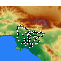 Nearby Forecast Locations - El Monte - Carte