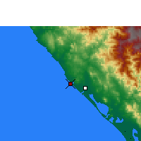 Nearby Forecast Locations - Mazatlán - Carte
