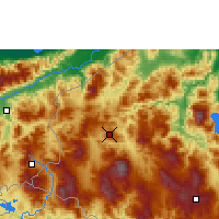 Nearby Forecast Locations - Santa Rosa de Copán - Carte