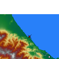 Nearby Forecast Locations - Puerto Limón - Carte