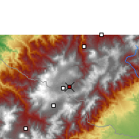 Nearby Forecast Locations - Ipiales - Carte