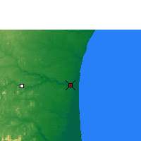 Nearby Forecast Locations - São Mateus - Carte