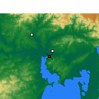Nearby Forecast Locations - Porto Alegre - Carte
