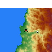 Nearby Forecast Locations - Aéroport du désert de l'Atacama - Carte
