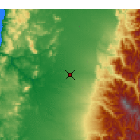 Nearby Forecast Locations - Chillán - Carte