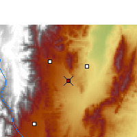 Nearby Forecast Locations - San Salvador de Jujuy - Carte