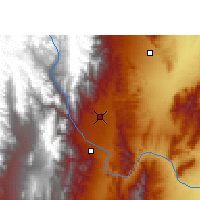 Nearby Forecast Locations - Salta - Carte