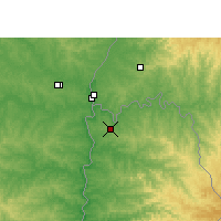Nearby Forecast Locations - Puerto Iguazú - Carte