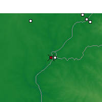Nearby Forecast Locations - Monte Caseros - Carte