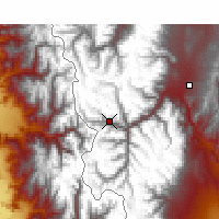Nearby Forecast Locations - Puente del Inca - Carte