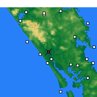 Nearby Forecast Locations - Dargaville - Carte