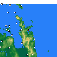 Nearby Forecast Locations - Whitianga - Carte