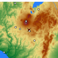 Nearby Forecast Locations - Waiouru Airstrip - Carte