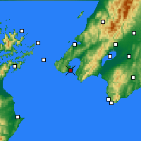 Nearby Forecast Locations - Wellington - Carte