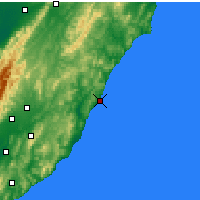 Nearby Forecast Locations - Castlepoint - Carte