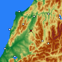 Nearby Forecast Locations - Reefton - Carte