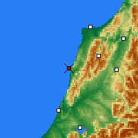 Nearby Forecast Locations - Punakaiki - Carte