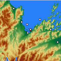 Nearby Forecast Locations - Parc national Abel Tasman - Carte