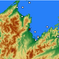 Nearby Forecast Locations - Motueka - Carte