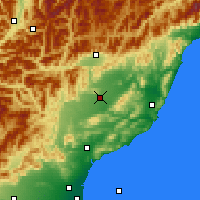 Nearby Forecast Locations - Culverden - Carte