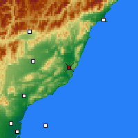 Nearby Forecast Locations - Cheviot - Carte
