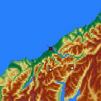 Nearby Forecast Locations - Haast - Carte
