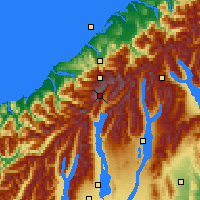 Nearby Forecast Locations - Mount Cook NP - Carte