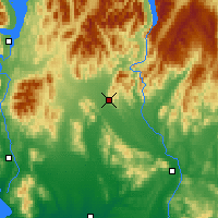 Nearby Forecast Locations - Lumsden - Carte