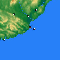 Nearby Forecast Locations - Nugget Point Aws - Carte