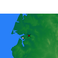 Nearby Forecast Locations - Scherger Raaf - Carte