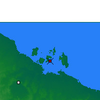 Nearby Forecast Locations - Centre Island - Carte
