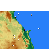 Nearby Forecast Locations - Cairns - Carte