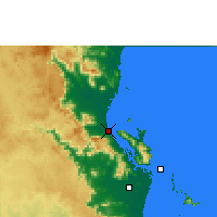 Nearby Forecast Locations - Cardwell - Carte
