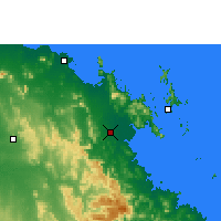 Nearby Forecast Locations - Proserpine - Carte