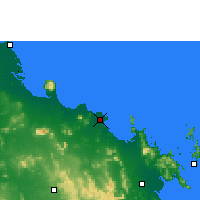 Nearby Forecast Locations - Bowen - Carte